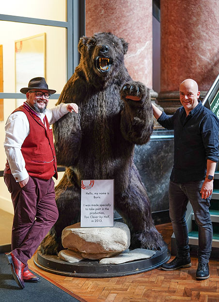 Chris and Kieron from EXP101 with bear.